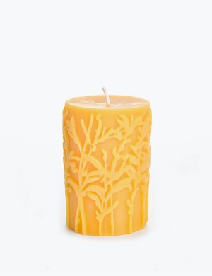 Yellow christmas candle