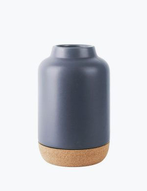 ceramic vase with a cork bottom