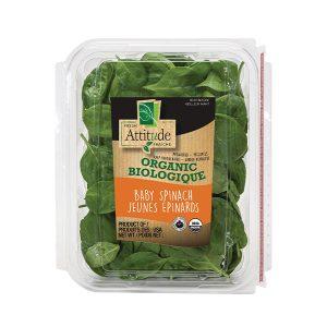 Fresh Attitude Organic Baby Spinach