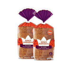 Honey Wheat Sliced Bread, 2 Pack